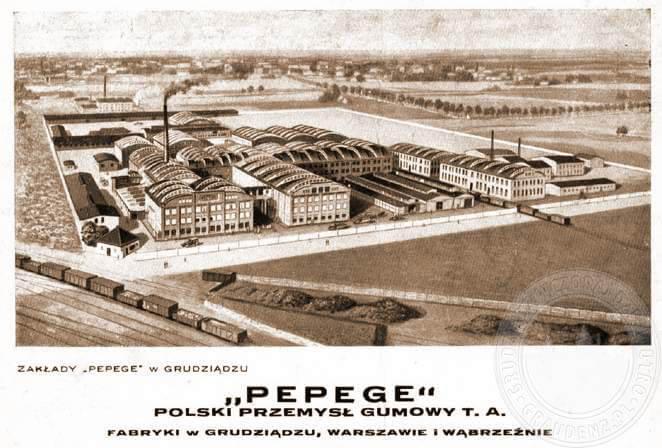 Фабрика «PePeGe» в Грудзёндзе, которую санирует в 1930-х годах Соломон Мелуп