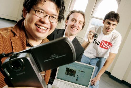 Создатели YouTube: Чад Хердли (Chad Meredith Hurley), Стив Чен (Steve Chen) и Джавед Карим (Jawed Karim). Фото: wikimedia.org