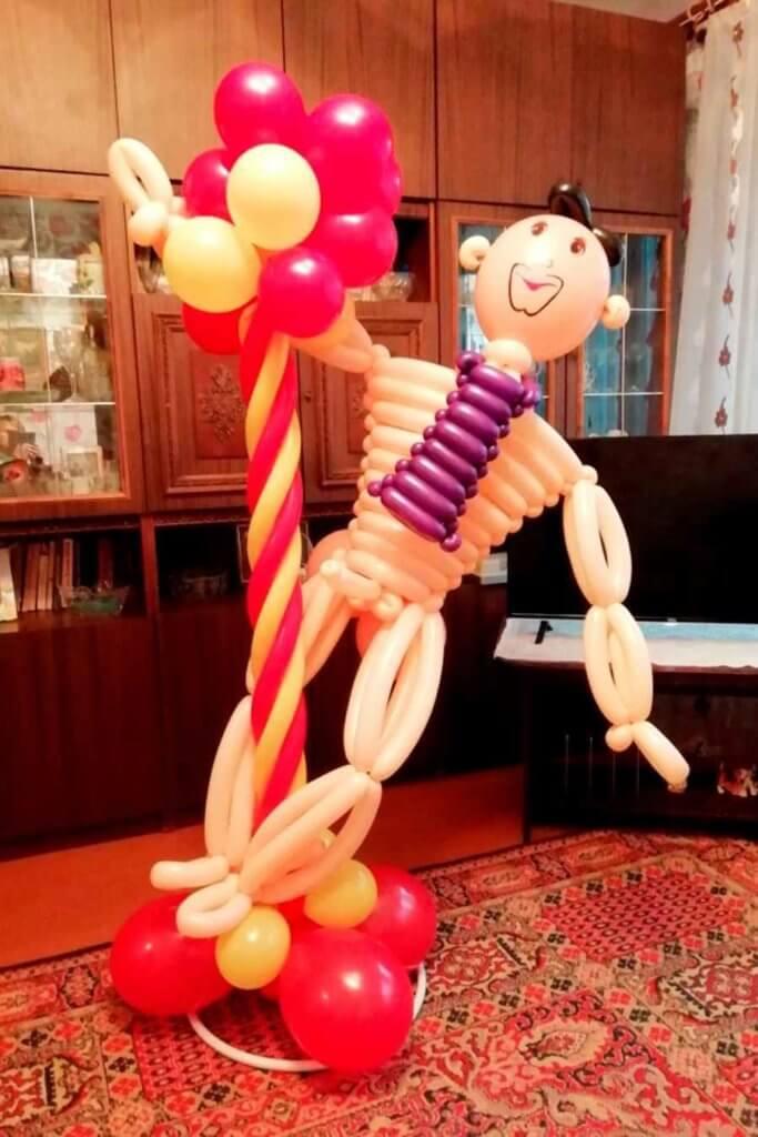 Фигура «стриптизёра» из шаров
