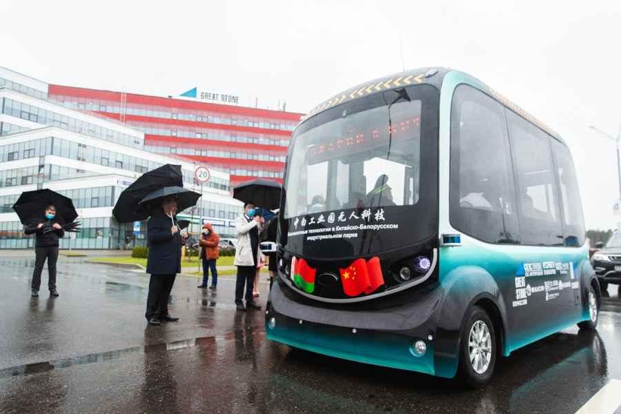 В Беларуси презентовали первый беспилотный автобус