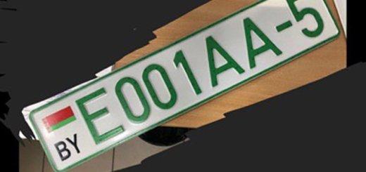 В Беларуси вводят зеленые номера для электромобилей
