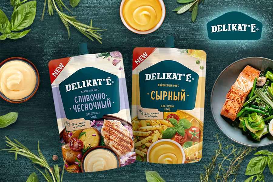 Новая линейка соусов DELIKAT'E